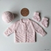 Hand Knitted Light Pastel Pink Set (0-3 Months) (Acrylic)