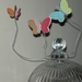 3D Wired Butterfly Flowers - Display in a vase or use the wire to attach to anything (3 large and 3 small)