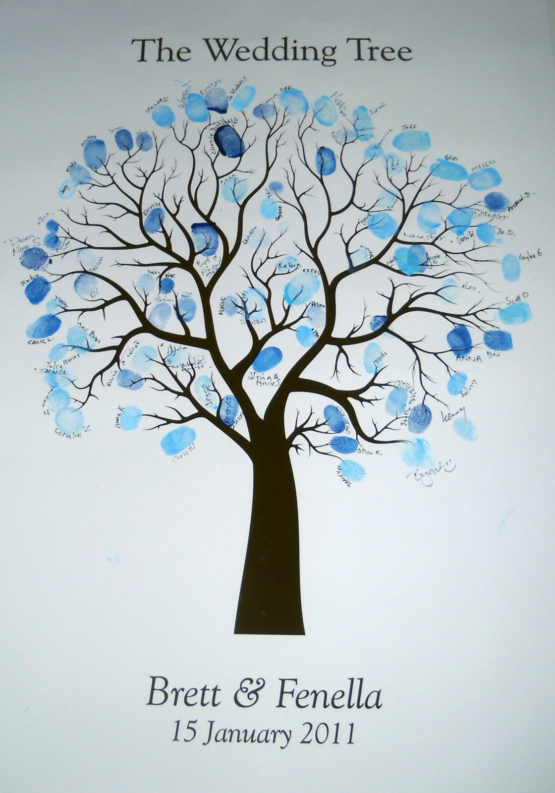 Birthday Fingerprint Guestbook Tree