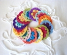 PRETTY GARLAND - Crochet Floral Motif, a rainbow of colours. Made to your specifications