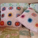 GRANNY SQUARE CROCHET CUSHION COVER - RETRO INSPIRED - VERY GRANNY CHIC