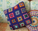 RETRO INSPIRED GRANNY SQAURE CUSHION COVER - Granny Chic Goodness