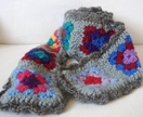 Granny Square Scarf, retro inspired - a perfect woolly warmer, great for a child.