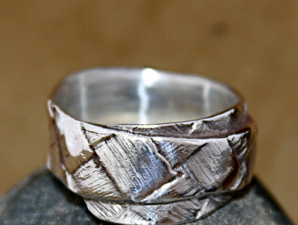 Flax Weave Single Wrap Ring