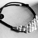 Flax Weave Crescent Necklace