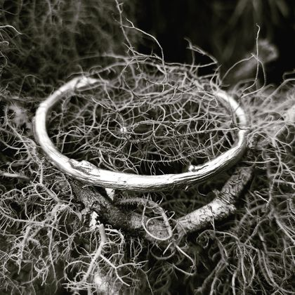 Twiggy Open Bangle Sterling Silver