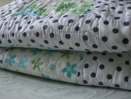 'BLUE AND GREEN ALL OVER' Quilt