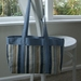 Blue Chenille Tote Bag