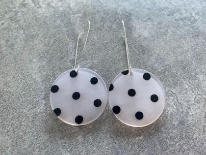Resin spotty earrings