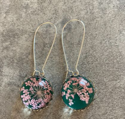 Stunning pressed floral earrings