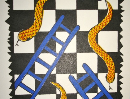 Screaming Dorises cards - Snakes & Ladders