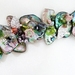 Embellished Paua Bracelet - Peachy Pinks/Greens
