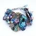 Embellished Paua Bracelet in Blues and Pinks