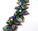 Embellished Paua Bracelet - Blues and Greens
