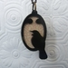 Perching Tui Black /Cream and Red Pendant