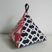 Pyramid Doorstop - Black & Pink