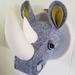Felt Rhino Head