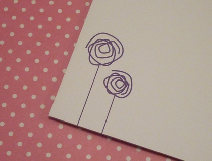 Purple Flowers Notepad - sweet for gifts