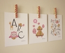 Set of 3 Pink themed mini prints