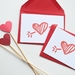 Sweet love heart arrow Card - Set of 4