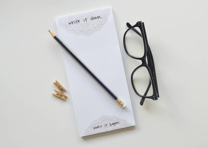 Write it down Make it happen Inspirational Big Notepad
