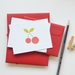 Red cherry flat notecards with matching red envelopes - set of 10