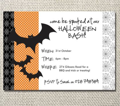 Be spooked at our Halloween party printable invite