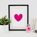 "Bright pink heart 8x10"" Art print"