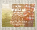Sweet vintage engagement party printable invite - with optional photo