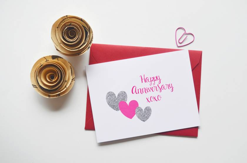 Happy Anniversary xoxo Greeting Card
