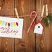 Happy Holidays Christmas lights Greeting Card