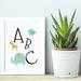 Blue ABC Animals Nursery Art Print