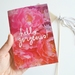 Hello Gorgeous hand lettered floral notebook - with 60 blank pages inside