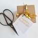 Gold Happy Holidays Christmas gift tags with twine - set of 8