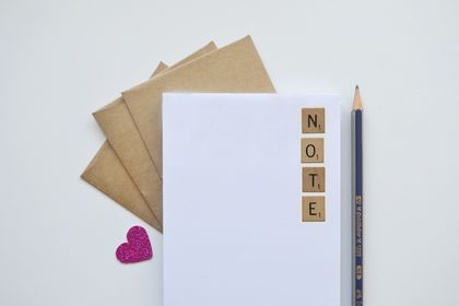 Note scrabble letters notepad - great for gifts