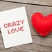 Crazy Love Punk/Rock Style Valentines Day Greeting Card