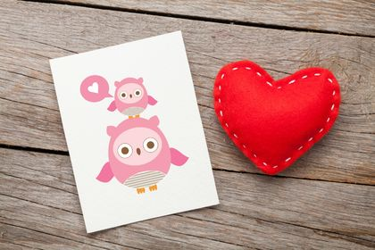 Owl Love Pink Sweet Greeting Card