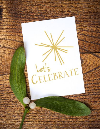 Let's Celebrate Christmas Greeting Card