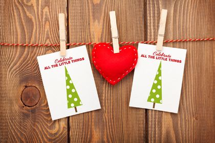 Celebrate all the little things Christmas Greeting Card