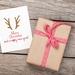 Merry Christmas Reindeer Ears Christmas Greeting Card