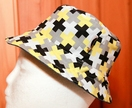 Geo Cross Reversible Childs Bucket Hat