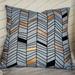 Grey, gold and black Herringbone Cushion