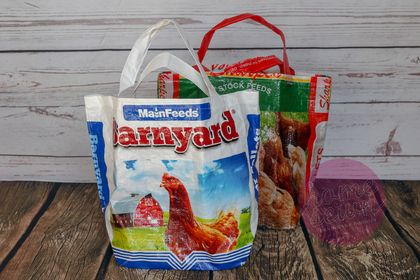 Upcycled Feed Bag Shopping Totes (Regular Size)