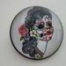 """Brooch Sugar Skull  """"Painted Lady"""""""