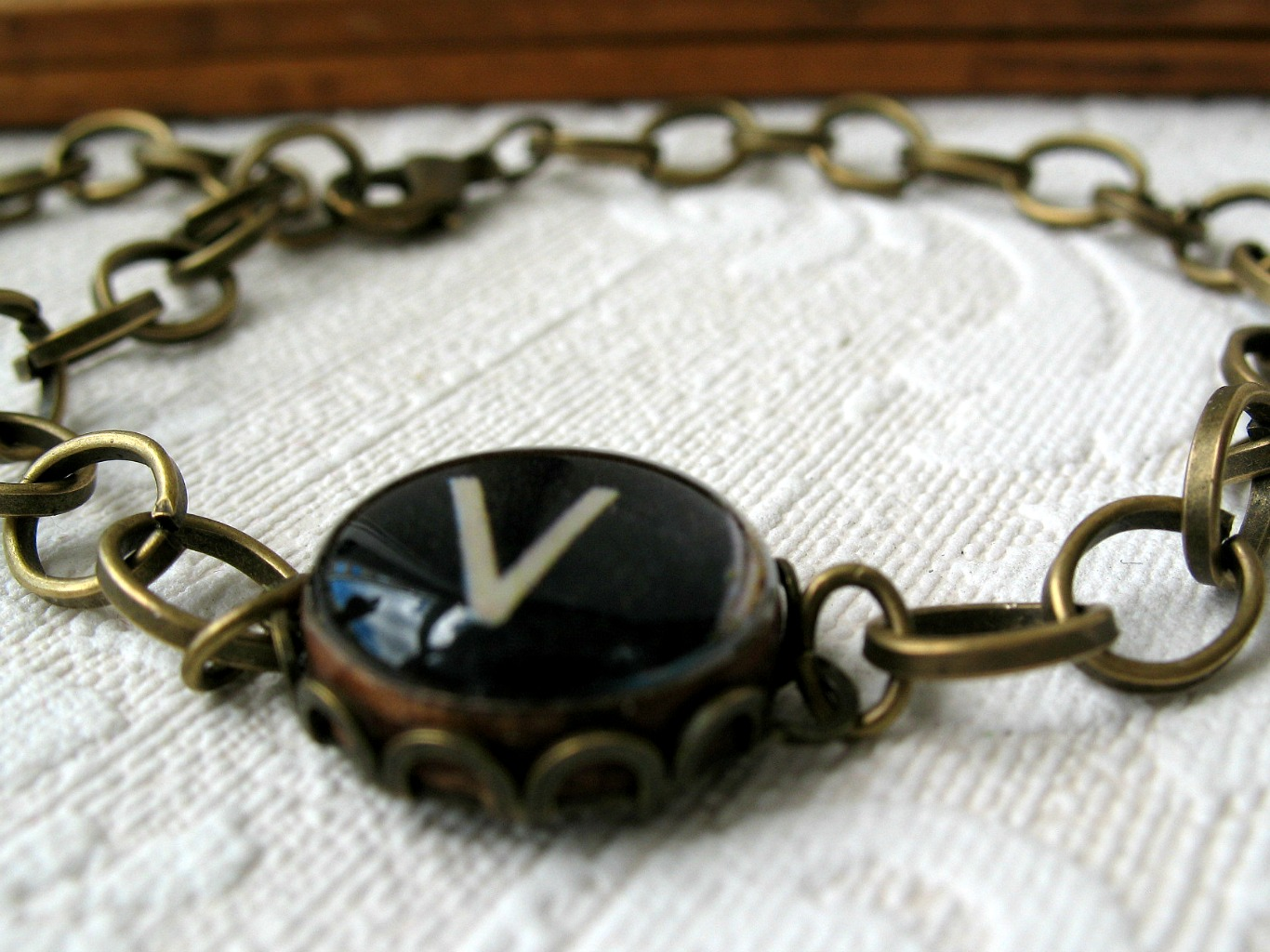 Vintage Typewriter Key Bracelet 111