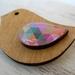Geometric Pastel Retro Birdy Brooch