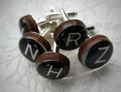 Typewriter Key Cufflinks (Choose your letters)