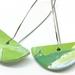 Ocean Green Artistic Clay Earrings
