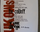 Charles Bukowski : PLEASURES OF THE DAMNED : letterpress