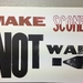 Make Scones Not War! letterpress poster